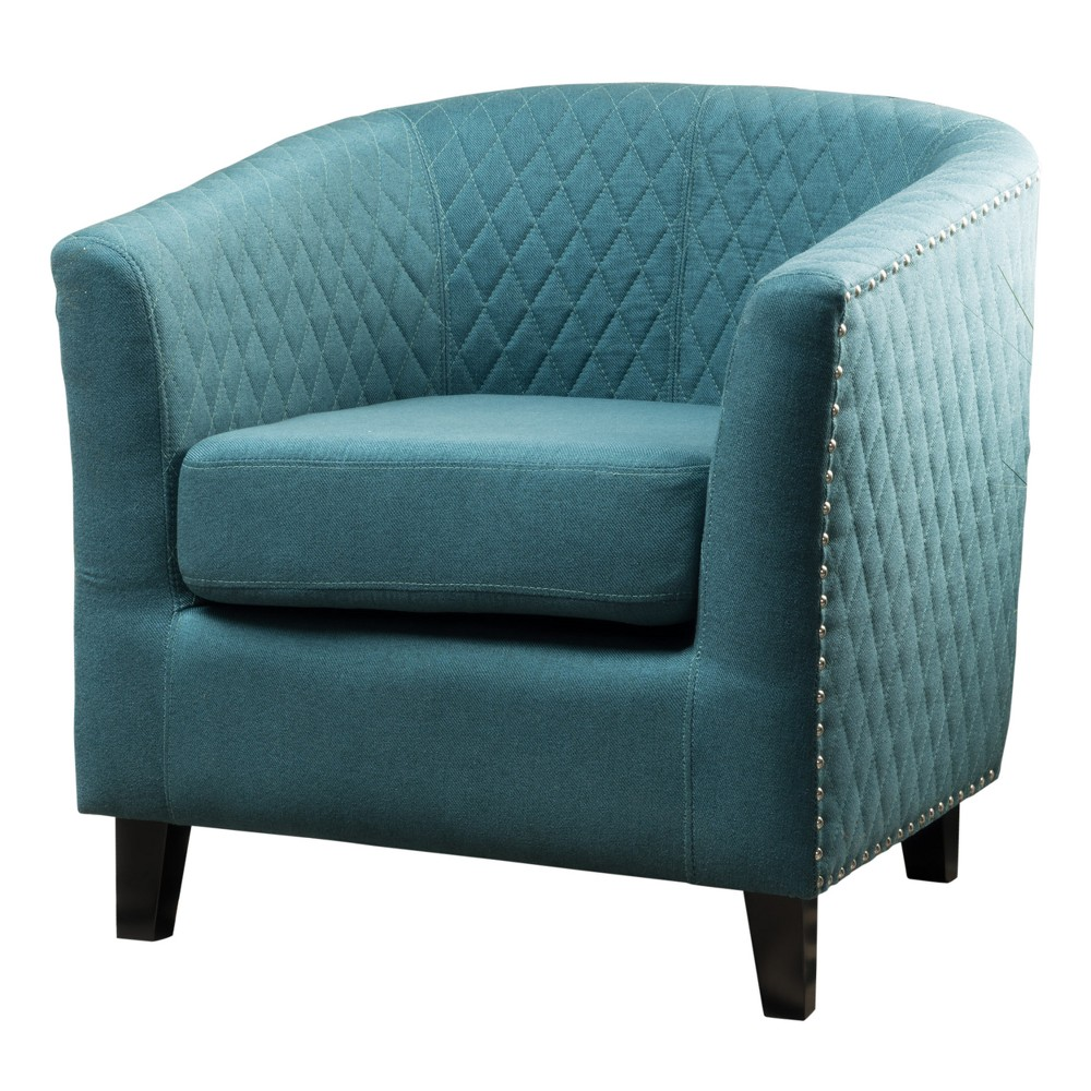 Mia Club Chair - Dark Teal - Christopher Knight Home