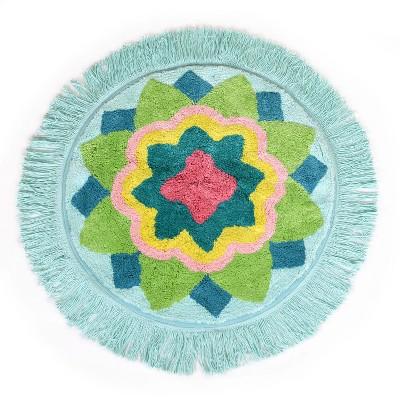 Ariel Medallion Bath Rug Green - Allure Home Creation