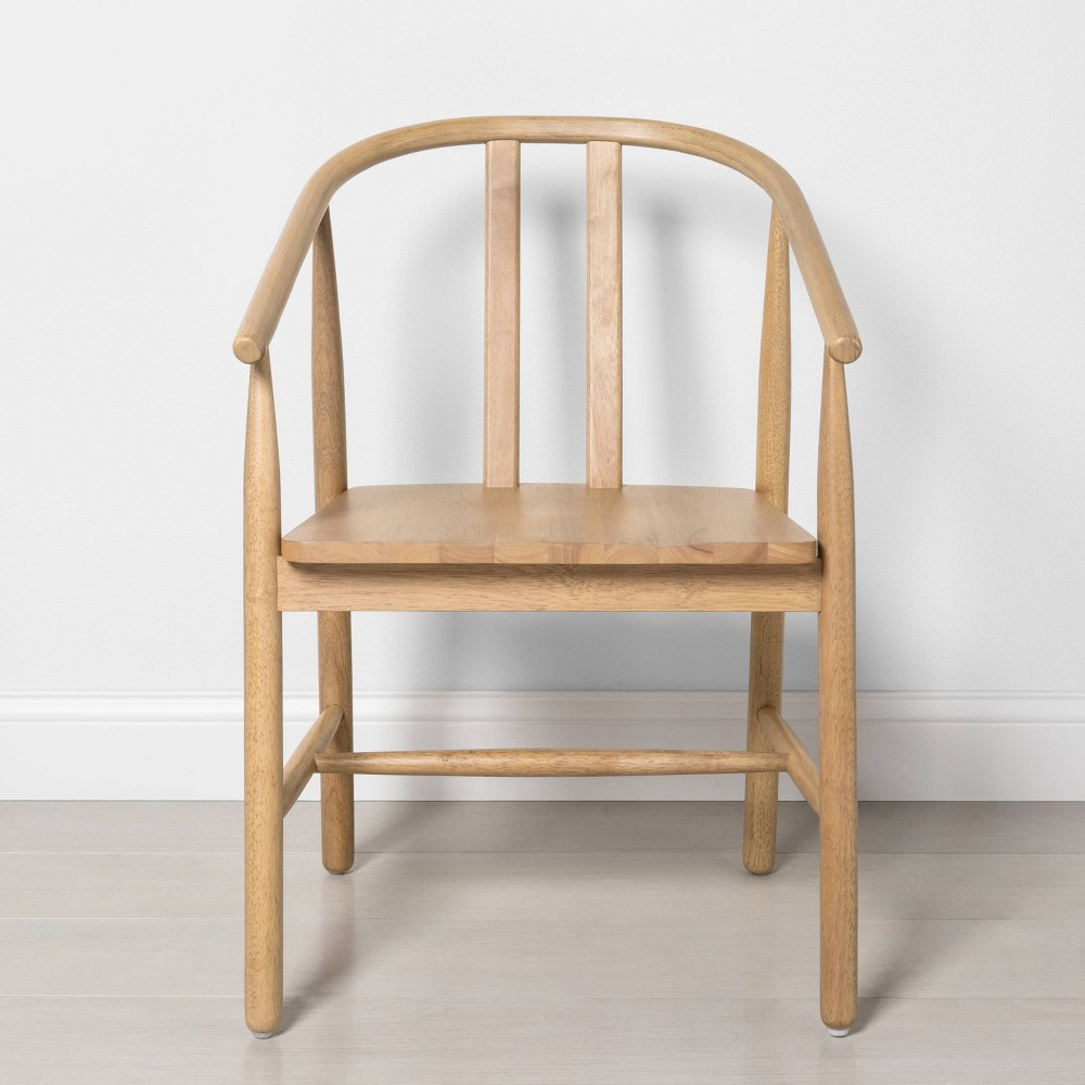 Image of Sculpted Wood Dining Chair - Hearth & Hand with Magnolia