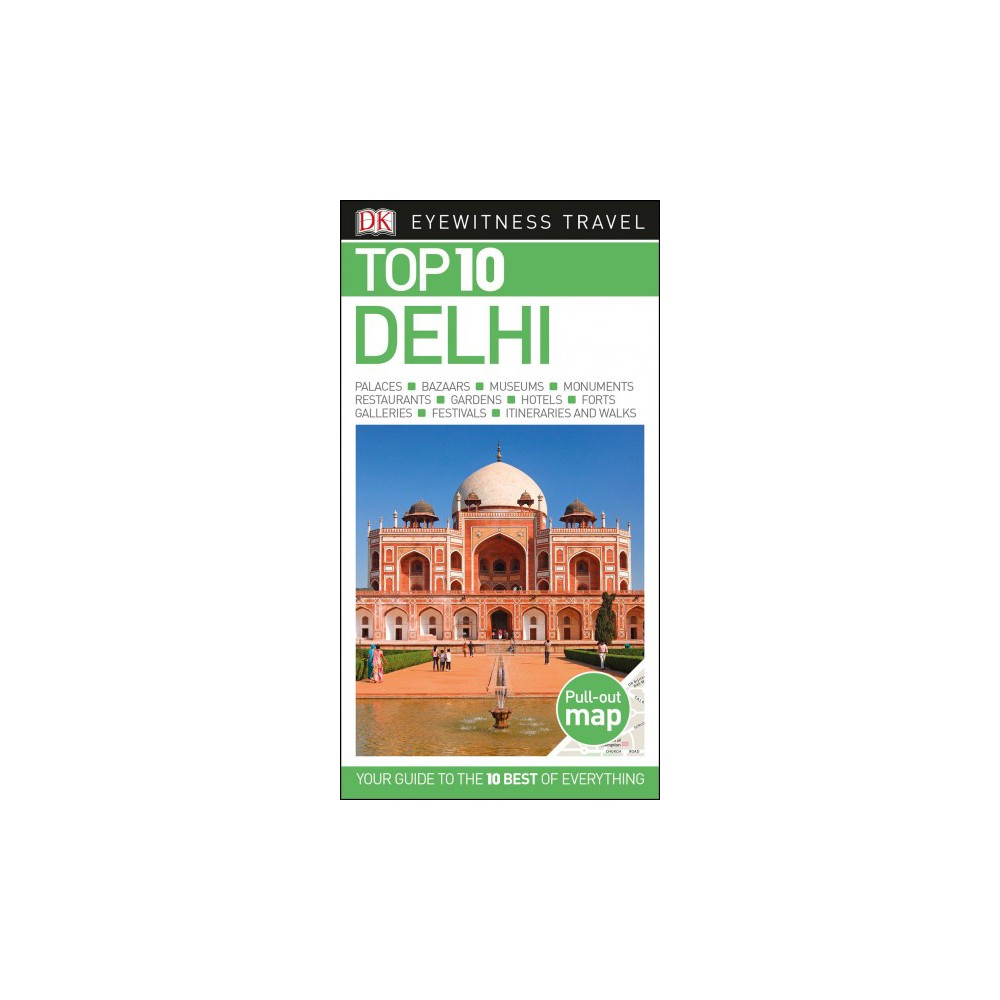 Dk Eyewitness Top 10 Delhi - by Gavin Thomas & Janice Pariat (Paperback)