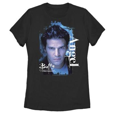 Women's Buffy the Vampire Slayer Angel Portrait T-Shirt
