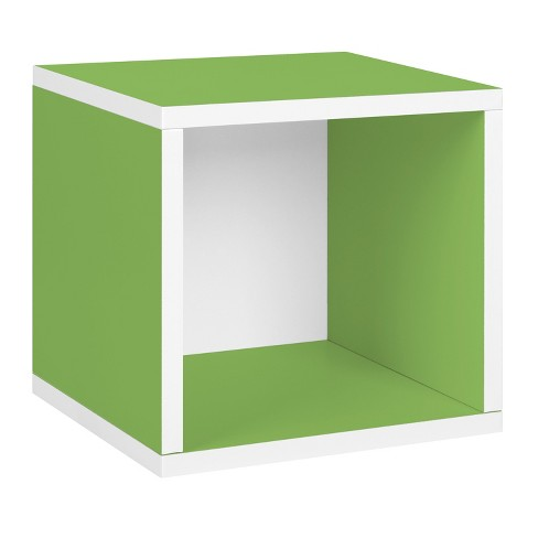 Way Basics Stackable Eco Cube Storage Cubby Organizer, Green - Formaldehyde Free - Lifetime Guarantee - image 1 of 4