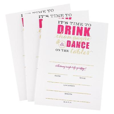 Bachelorette Champagne Dance Invitation