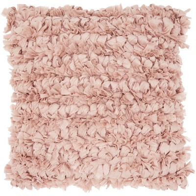 Loop Shag Oversize Square Throw Pillow Blush - Mina Victory