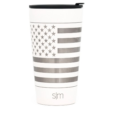 Simple Modern 16oz Classic Pint White Laser Engraved