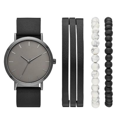 Men's Strap Watch Set - Goodfellow & Co™ Black
