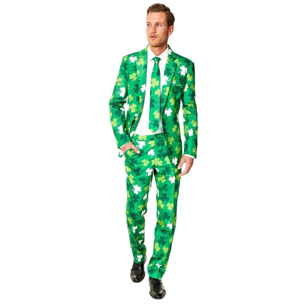 Men's St Patrick's Day Clovers Costume - Medium, Green