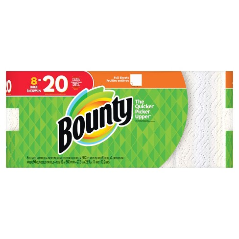bounty full sheet paper towels 8 huge rolls target