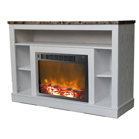 Cambridge CAM5021-1WHT Seville Fireplace Mantel with Electronic Fireplace Insert, White - image 1 of 4