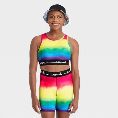 Pride Gender Inclusive Adult Tie-Dye Athletic Crop Top - PH by the Phluid Project