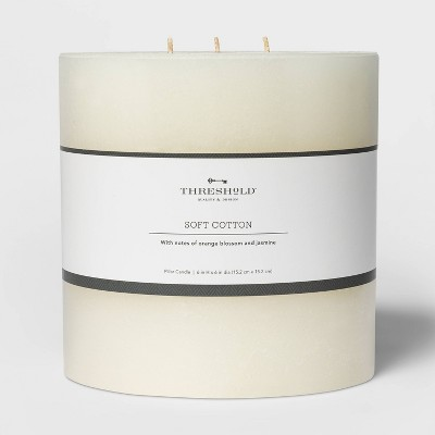 Pillar Candle Soft Cotton White - Threshold™
