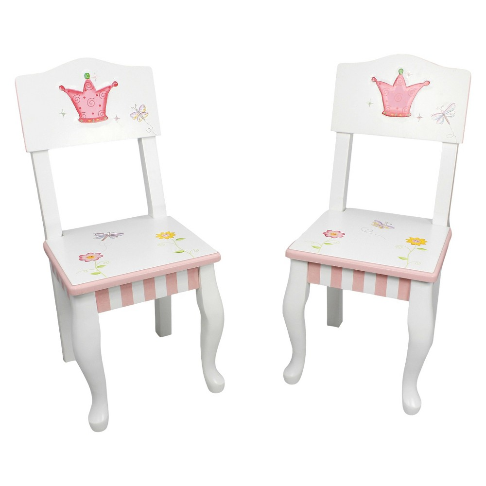 Image of Fantasy Fields Princess and Frog Chair Wood (Set of 2) - Teamson