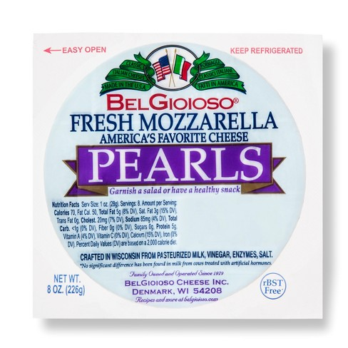 Belgioioso Fresh Mozzarella Pearl Cheese - 8oz - image 1 of 1
