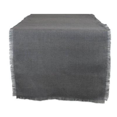 """110"""" x 15"""" Jute Table Runner Gray - Design Imports"""