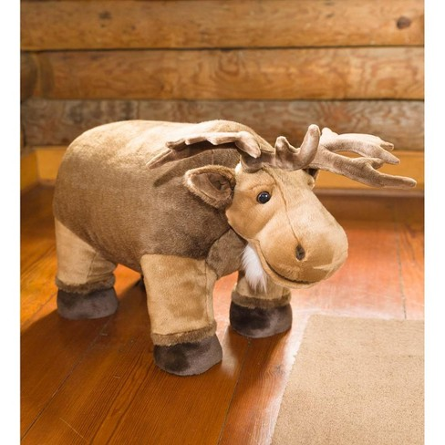 Fuzzy Polyester Adorable Moose Footstool - Plow & Hearth - image 1 of 1