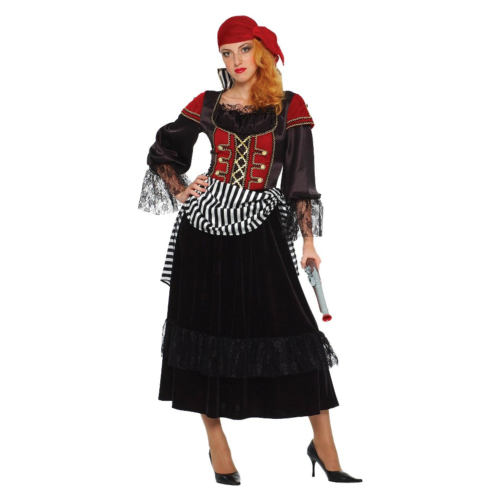 Treasure Pirate Women's Costume - Large, Red