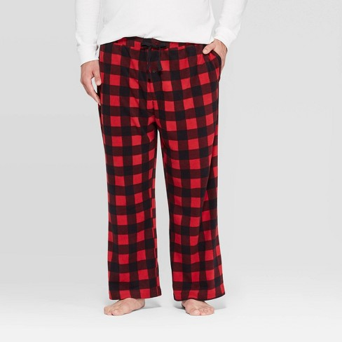 Men's Big & Tall Microfleece Plaid Pajama Pants - Goodfellow & Co™ Red Velvet - image 1 of 2