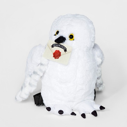 Toddler Harry Potter Hedwig Plush Backpack - White - image 1 of 2