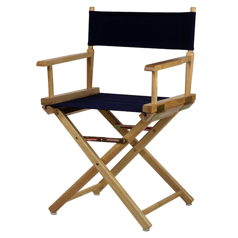 Director S Chair Canvas Navy Blue Natural Flora Home