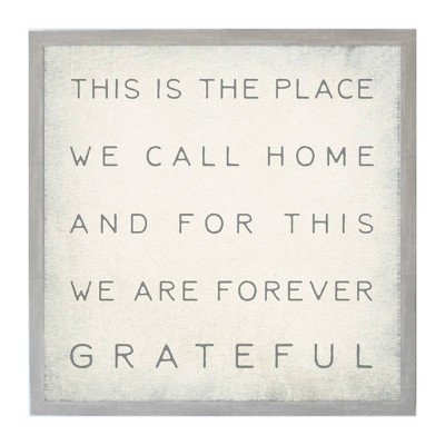 """16"""" x 16"""" This is the Place Vintage Wall Art Board - Petal Lane"""