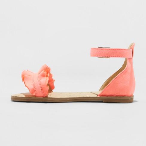 3fba2c5be267 Girls  Gabby Two Piece Ruffle Sandals - Cat   Jack™   Target