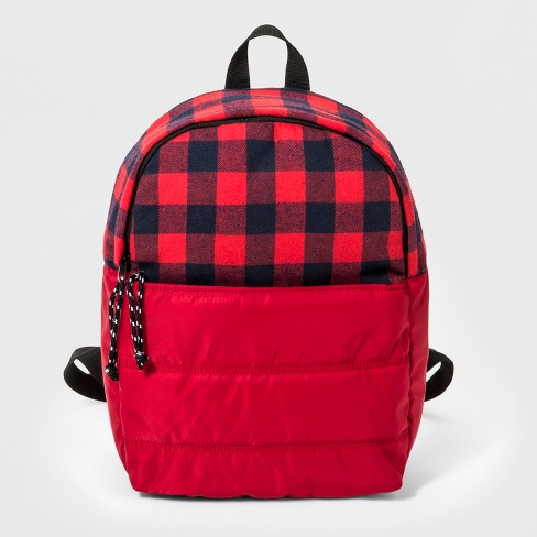 Boys' Quilted Fleece Backpack - Cat & Jack™ Red - image 1 of 3