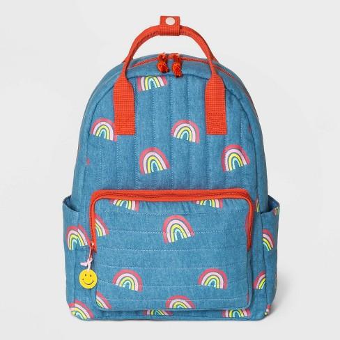 Girls' Rainbow Backpack - Cat & Jack™ Blue - image 1 of 2