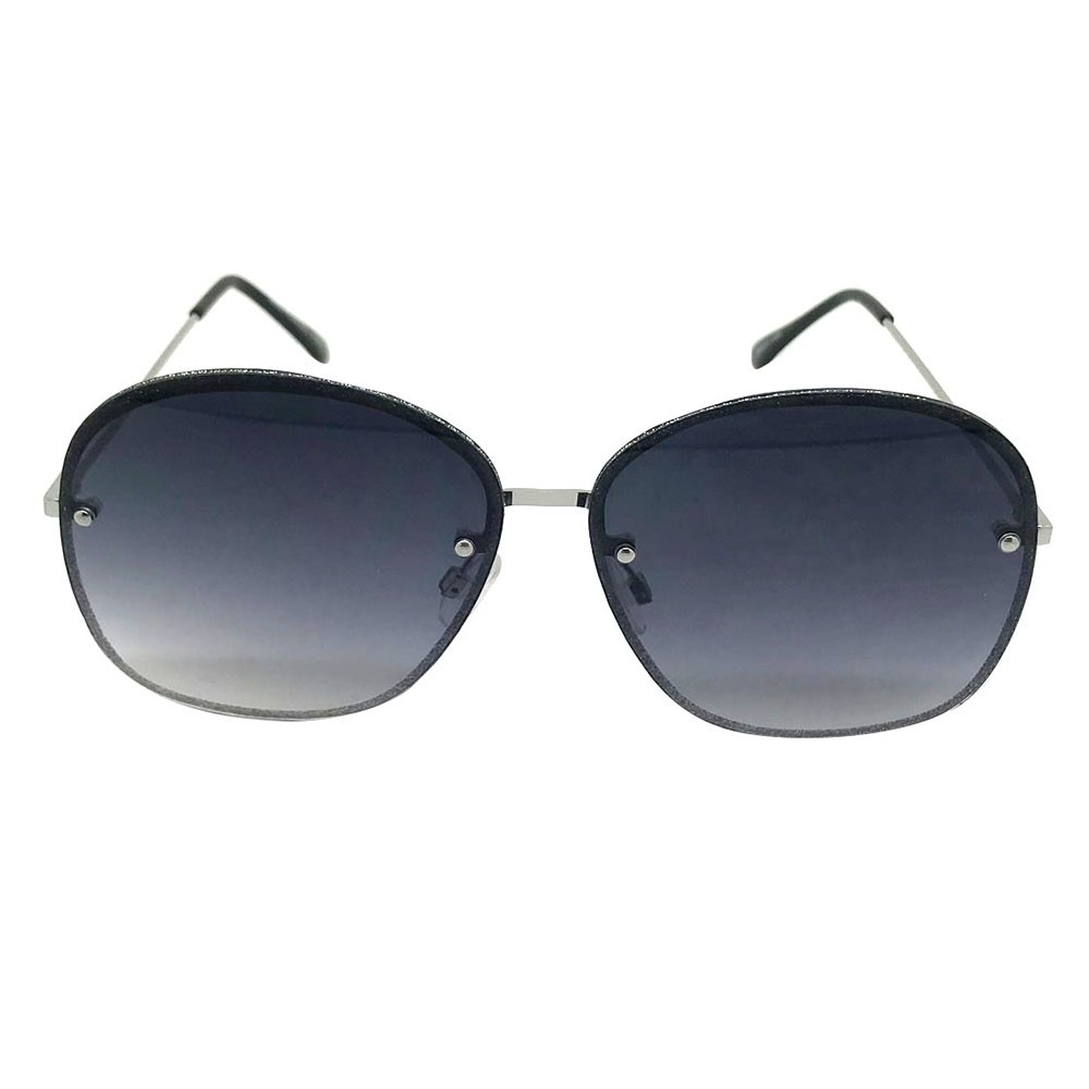 Women's Circle Sunglasses - A New Day Silver