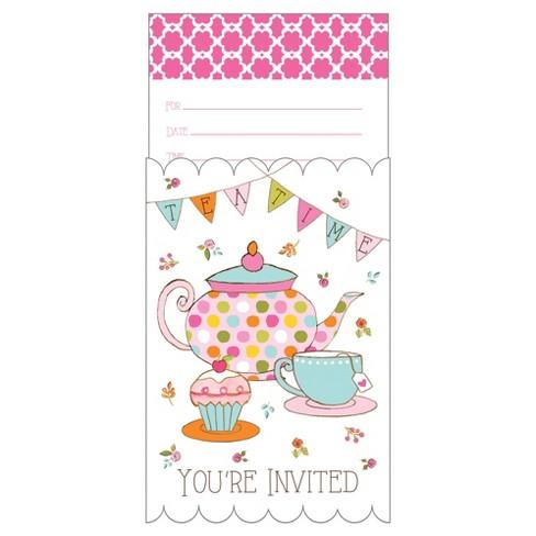 8ct tea time invitations target