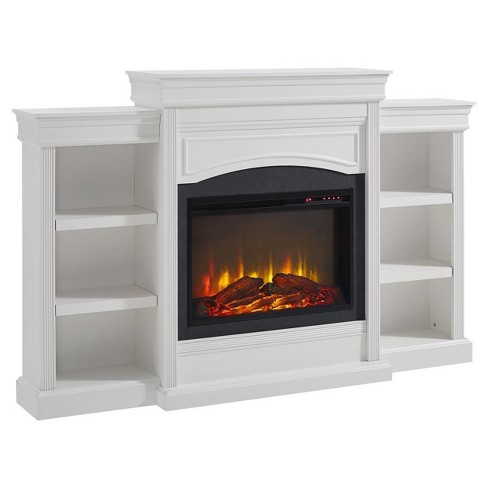 Hayman Mantel Fireplace -  White - Room & Joy - image 1 of 6