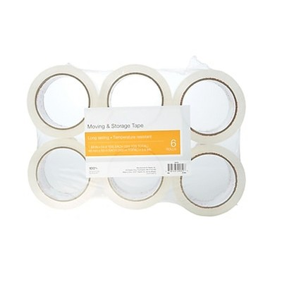 """MyOfficeInnovations Moving & Storage Packing Tape 1.88"""" x 54.6 Yds Clear 6 Rolls 504407"""