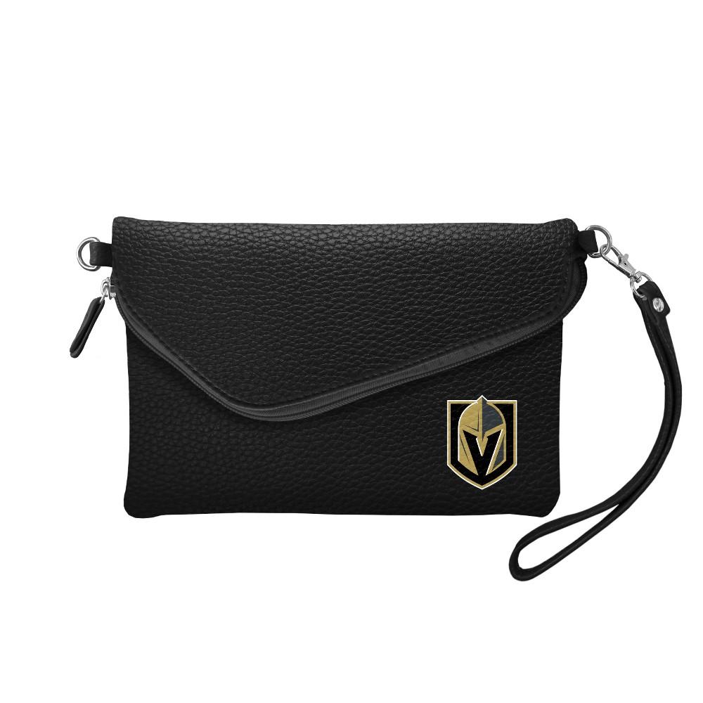 NHL Vegas Golden Knights Pebble Fold Over Crossbody Bag, Girl's