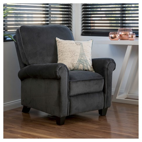 Dallon Fabric Recliner Club Chair Charcoal Christopher Knight Home Target