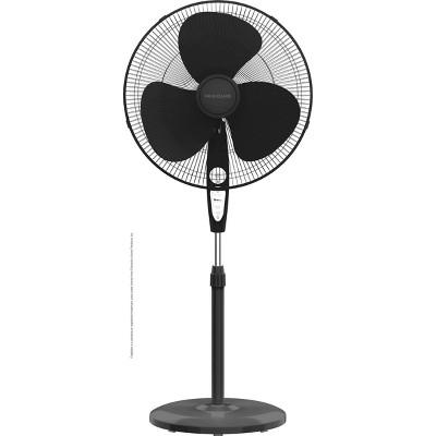 "Frigidaire 18"" Deluxe Pedestal Fan with Remote Control Black"