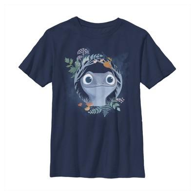Boy's Frozen 2 Bruni The Salamander Watercolor Portrait T-Shirt