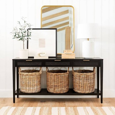 Console Sofa Entryway Tables Target - White Console Table With Storage Baskets