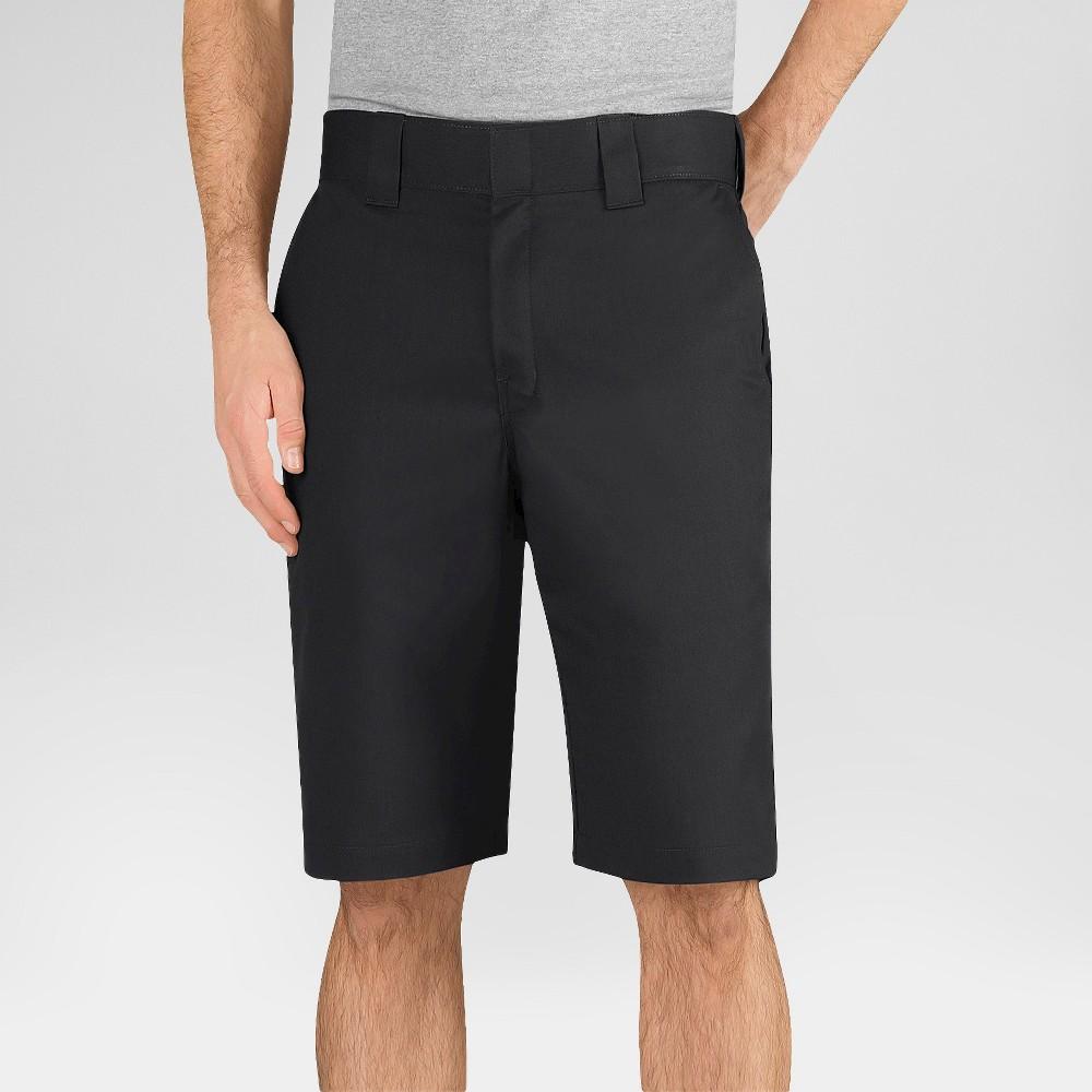 Dickies Men's Regular Fit Flex Twill 11 Shorts- Black 38