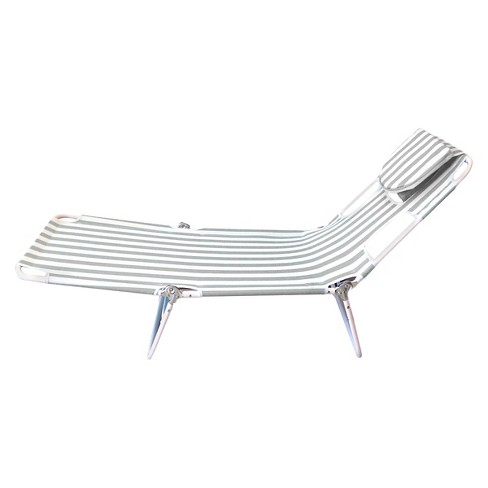 Portable Beach Lounger - Gray Stripe - Room Essentials™ - image 1 of 1