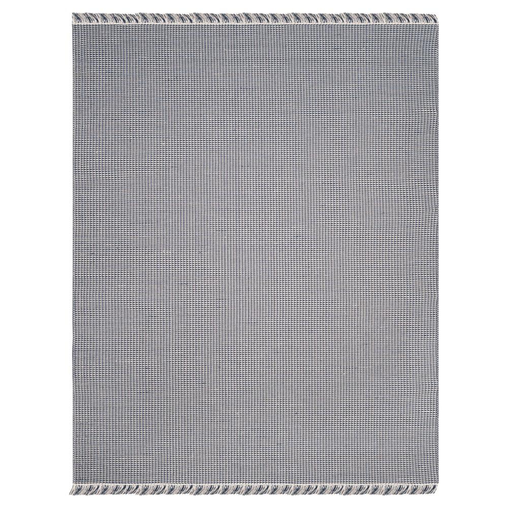 Ivory/Navy (Ivory/Blue) Stripe Flatweave Woven Area Rug 8'X10' - Safavieh