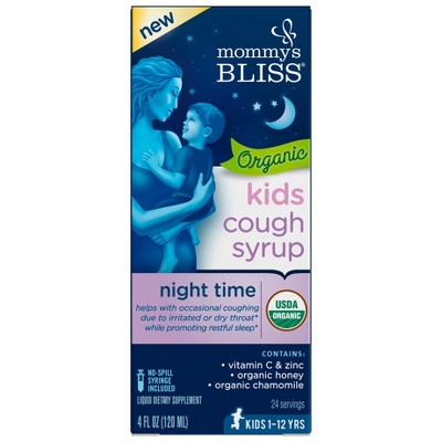 Mommy's Bliss Kids Organic Nighttime Cough Relief Liquid - 4 fl oz