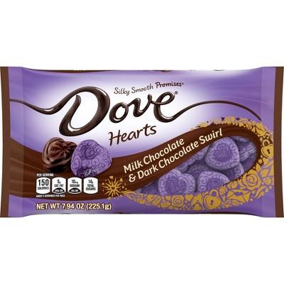 Dove Valentine's Day Milk and Dark Chocolate Swirl Hearts - 7.94oz
