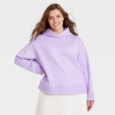 Women's Plus Size Hooded Sweatshirt - A New Day™ Lavender 2X