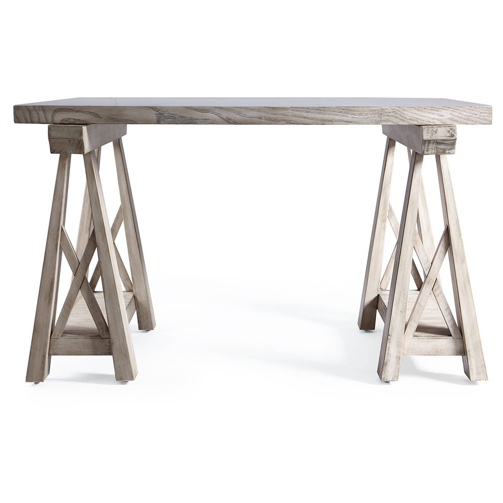 Griffin Sawhorse Coffee Table - Grey Mist - Haven Home, Gray