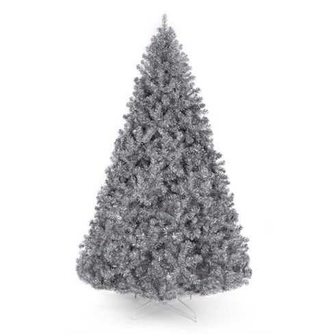 Best Choice Products 7.5ft Artificial Silver Tinsel Christmas Tree Holiday Decoration w/ 1,749 Branch Tips, Stand - image 1 of 4