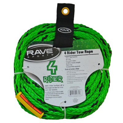 Rave Sports Tow Rope 4-Rider - Green