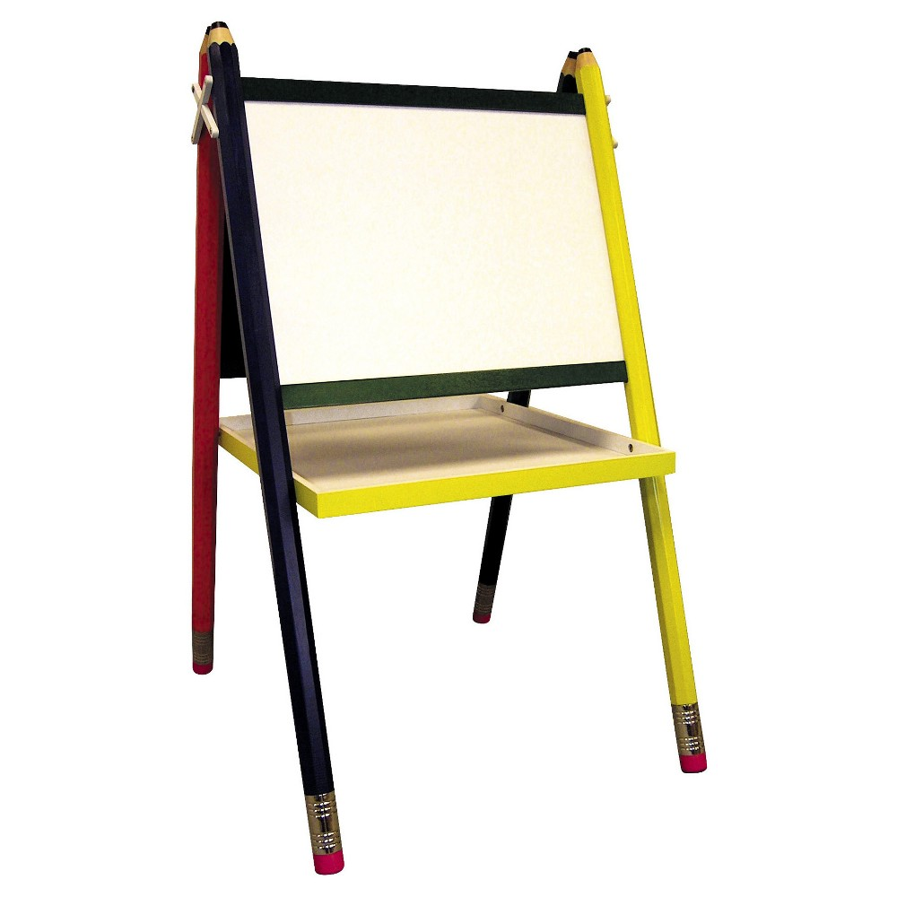 Kids Drawing Board Easel - Primary Color - Ore International, Red