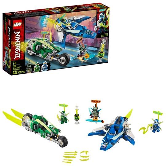 LEGO NINJAGO Jay and Lloyd's Velocity Racers 71709 Ninja Building Kit image number null