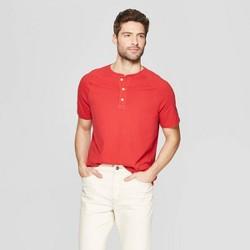 Men's Regular Fit Short Sleeve Henley Shirt - Goodfellow & Co™ Ripe Red