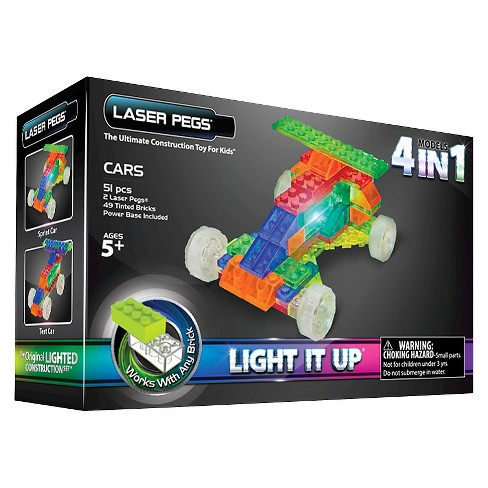 Laser Pegs MPS 4 in 1 Cars Lighted Construction Toy - image 1 of 6