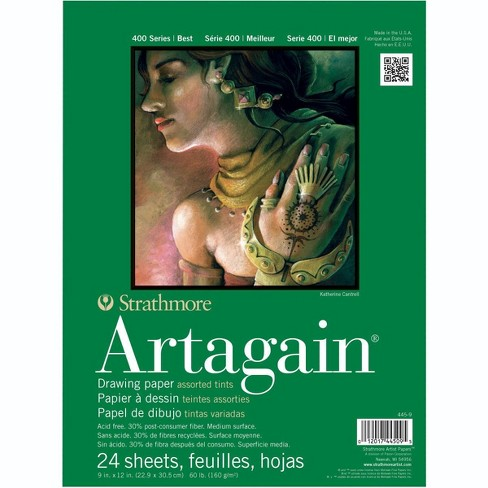 Strathmore Artagain 400 Series Paper Pad, 9 x 12 Inches, Assorted Colors, 24 Sheets - image 1 of 1